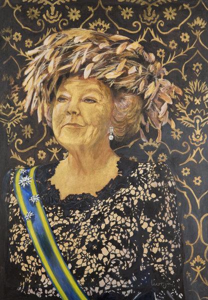 Olieverfportret voorbeeld - Beatrix
