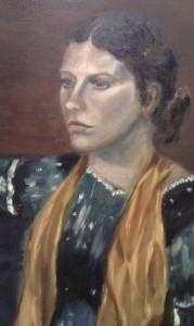 suzanna, modelstudie 60 x 80
