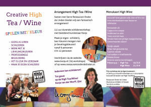 Workshop Schilderen High Tea - Wine Sneek