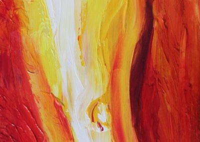 Vuur, Fire, oleiverf op paneel